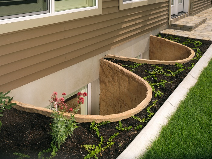 Egress Wells after the rest of the house is completed and landscaped.