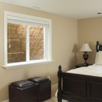 Rockwell Elite Egress Well in a bedroom