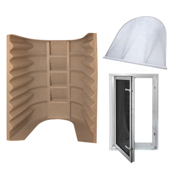 2062 Egress Window Kit in Sandstone