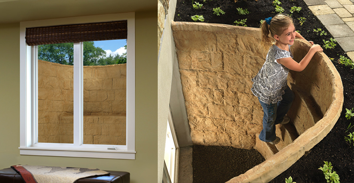 Help keep your basement dry and fresh with an egress window. Allows for better air circulation and sunlight to reduce dampness.