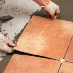 laying tiles
