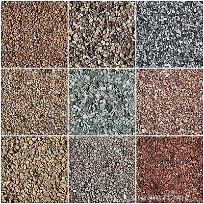 Colored pea gravel gives an egress well a colorful look.
