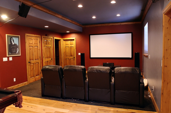 Basement room ideas popular uses for a finished space for Basement theater room
